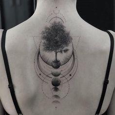 Browse best global tattoos for men & women. Sky Tattoos, Forest Tattoos, Nature Tattoos, Small Tattoos, Sleeve Tattoos, Tattoos For Guys, Cool Tattoos, Owl Thigh Tattoos, Tatouage Fibonacci