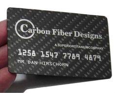210 best stand out business cards images on pinterest business carbon fiber designs creates luxury and lightweight business cards businesscards trendhunter reheart Choice Image
