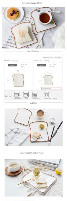The Ceramic Toast Plate makes breakfast dishes a joy. Buy cool gadgets and handmade gifts for the kitchen at Apollo Box. Ceramic Clay, Glazed Ceramic, Ceramic Plates, Dishwasher Cabinet, Kids Plates, Apollo Box, Ceramic Techniques, Ceramic Coasters, Client Gifts