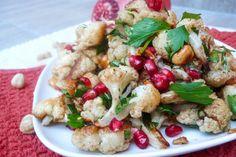 Blomkålsalat med hasselnøtter og granateple