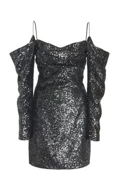 Rasario Exclusive Off-The-Shoulder Sequined Georgette Mini Dress Source by modaoperandi dress cocktail Kpop Fashion Outfits, Stage Outfits, Fashion Fashion, Look Girl, Pretty Dresses, Dresses For Sale, Short Dresses, Dance Dresses, Women's Dresses