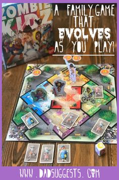Cooperative board games are perfect choices for family game night. Zombie Kidz Evolution is a cooperative kids game that actually evolves the more you play – leading to incredible replay value and engagement. Couples Game Night, Board Games For Couples, Couple Games, Family Game Night, Family Games, Zombie Board Game, Cooperative Games, First Game, Tabletop Games
