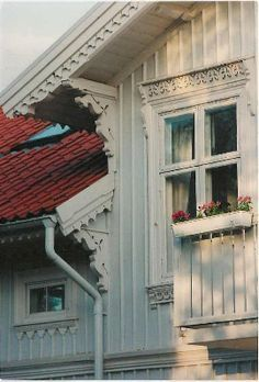 Traditional Swedish House Front Colour Photograph 5x7 Door NoraEke