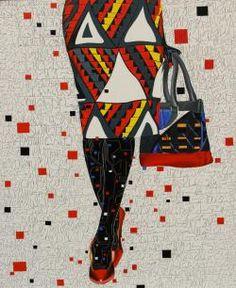 Eddy Ilunga Kamuanga, (2014), Sans Titre, Acrylic on canvas, 120 x 100 cm