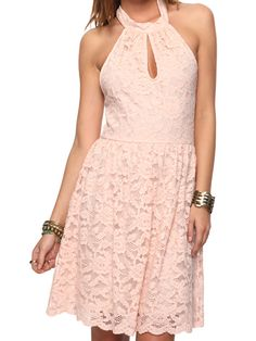 Lace Halter Dress: 100 Lace Dresses for Summer: Style: teenvogue.com