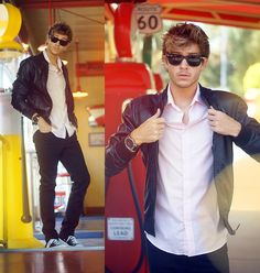 Grease Inspired (+Video)  (by Adam Gallagher) http://lookbook.nu/look/4060564-Grease-Inspired-Video