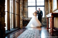 The happy new couple admiring the Summers Custom Multi-Width Hickory Flooring at the Pronghorn Club & Resort Clubhouse. Photography by the talented Byron Roe! Hickory Flooring, Couple, Rustic, Club, Live, Wedding Dresses, Happy, Photography, Inspiration