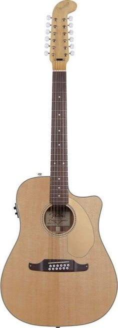 Fender Villager 12 String Cutaway Acoustic-Electric Guitar | Natural