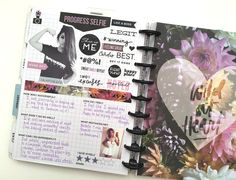 'Progess Seflie' page and reflecting on January's Fitness Journey in The Happy Planner™ Fitness Extension Pack by mambi Social Media Coordinator Amanda Zampelli Planner Layout, Life Planner, Happy Planner, Planner Ideas, Workout Log, Workout Memes, Workout Fitness, Fitness Journal, Fitness Planner