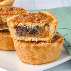 Loaded Butter Tarts - a Canadian classic reinvented. - - Loaded Butter Tarts - traditional easy to make butter tarts with the addition of toasted pecans, chocolate chips, raisins and dried coconut; Rock Recipes, Tart Recipes, Baking Recipes, Dessert Recipes, Dessert Tarts, Yummy Recipes, Cookie Recipes, Butter Tart Squares, Canadian Butter Tarts