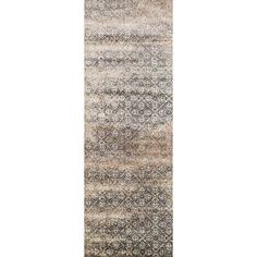 """Loloi Rugs Elton Ivory/Brown Area Rug Rug Size: Runner 2'6"""" x 7'7"""""""