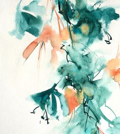 Abstract Original Watercolor, Modern Painting, Watercolour Art, Floral Painting