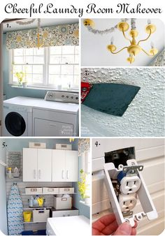 Cheerful laundry room makeover - 2012 projects