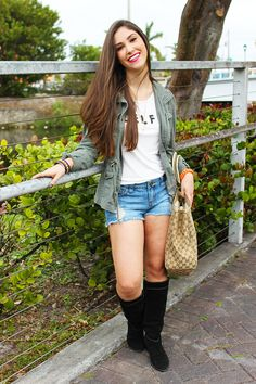 Utility Jacket and boots on Miami Fashion Blogger
