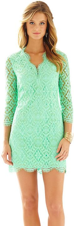 Meryl Long Sleeve Lace V-Neck Dress