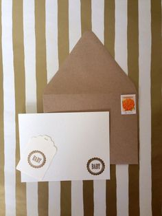 Baby Design Card Set, hand stamped and embossed  by RHCollection, $7.00