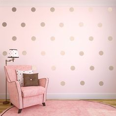Silver Wall Decals Silver Polka Dots Wall Decor by SignJunkies