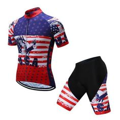 Teleyi Brand Pro Team Racing Sport Cycling Jersey Sets Men Usa Style Mtb  Road Bike Jersey Quick Dry 1fba0ea5f