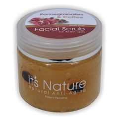 It's Nature - Natural Anti-Aging with Dead Sea Minerals, Pomegranate and Coffee Facial Scrub Fruit Gel for All Skin Types by It's Nature Natural Anti-Aging & Dead Sea Minerals. Save 48 Off!. $9.78. Removal of the dull layer will revive the appearance of healthy looking skin, while replenishing its moisture, leaving skin looking fresh and smooth. This unique facial scrub thoroughly cleanses the skin, helping to exfoliate the Cornea layer. Removing the Cornea layer allows the Epidermis layer…