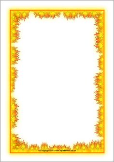 Fire-Themed Page Borders