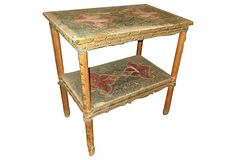 Embroidered Velvet Moroccan Table   West Coast Dreaming   One Kings Lane