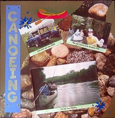Camping and Outdoor Scrapbook Page Layout Ideas: Canoeing by Marilyn Toole Radnor