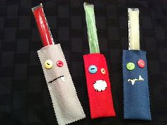 MoNsTer Popsicle Snuggies - posting this under party ideas, as an idea to make for older child's class birthday treat and favor.