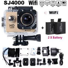 1080P Full HD SJ4000 WIFI extreme Sports WIFI Camara  hero 4 Cam Style bicycle kamera Camara acuatica				Your Waterproof Sports DV				With Wireless WIFI				2 x Battery								Description:	  	This product is a high-definition digital motion video recording device tailored to market demand.