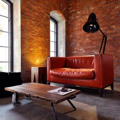 Gastwerk Hotel Hamburg entrance hall interior decor red sofa
