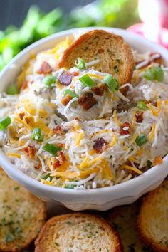 This Skinny Million Dollar Dip is a lighter spin on the famous Million Dollar Dip! This almond, bacon, and cheese dip recipe started out as a cheese spread and quickly become a crowd-pleasing million dollar dip that has lasted the test of time. It's perfect for making in advance and only takes about 5 minutes to prepare, making it the perfect appetizer for any gathering!