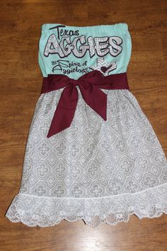 Texas A & M Game Day Dress Mint Green Gray and Maroon by CheerItUp, $58.00