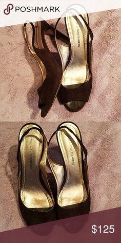 LAST CALL Diane vonFurstenberg Suede sling backs Brown suede Diane von Furstenberg Shoes Heels