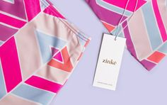 Like the product, the visual system is graphic and personable, consisting of geometric shapes which express an elevated-yet-energetic look. Zinke is a contemporary women's collection that embraces a spirited and versatile approach to swimwear. We designed a flexible and vibrant brand system that can change and evolve to articulate the vibe of distinct seasons and collateral.Like theproduct, the visual system is graphic and personable, consisting of geometric shapes which ...