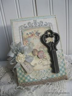 lovely shabby chic card victorian card french by cherrysjubileecards