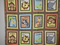 A Day At The Zoo by QuiltsForU2 on Etsy, $45.00