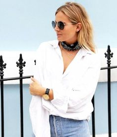 look-bandana-colar-short-jeans