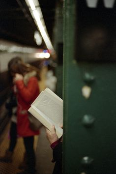 Life as I know it. Public transit and a book.