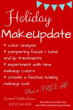 Hey, pretty lady! Take some time to pamper yourself and try out a new look! Holiday MakeUpdate from Tabitha Dumas, Image and Influence Strategist.