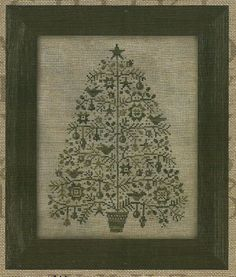 Primitive Folk Art Cross Stitch Pattern  OH by PrimFolkArtShop, $7.85