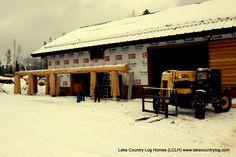 """www.lakecountrylog.com    12"""" Red Cedar Shiplap Log Siding Cedar Shiplap, Log Siding, Western Red Cedar, Douglas Fir, Log Homes, Outdoor Decor, Home Decor, Timber Homes, Decoration Home"""
