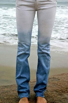 DIY Clothes DIY Refashion DIY Clothes Refashion: DIY ombre denim dyeing jeans