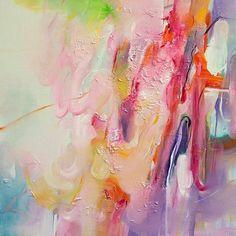 Leisure Time- abstract art print, giclee art print, fine art, wall art, home decor, pink #abstractart