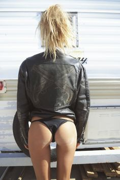 Sahara Ray in Understated Leather, biker jacket