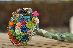 CUSTOM Wedding Jewelry Brooch Bouquet - to fit your style, budget & colors, OOAK, vintage bridal bouquet. $425.00, via Etsy.