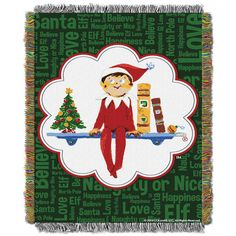 Elf Movie Pose Woven Tapestry Throw Blanket (48x60)