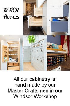 All our cabinetry is handmade by our mastercraftsmen in our windsor workshop.   Kitchens, cupboards, wardrobes, pantry, drawers,