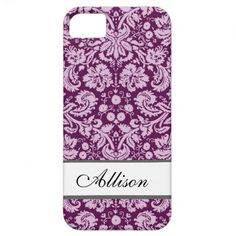 Name-Damast iPhone 5 Cover