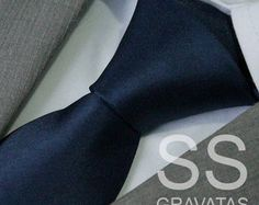 Gravata Azul Marinho Slim - C05