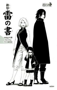 Tags: NARUTO, Haruno Sakura, Uchiha Sasuke, Kishimoto Masashi, Official Art, Uchiha Clan, Uchiha Sarada