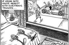 Zapiro: House arrest means Oscar would walk